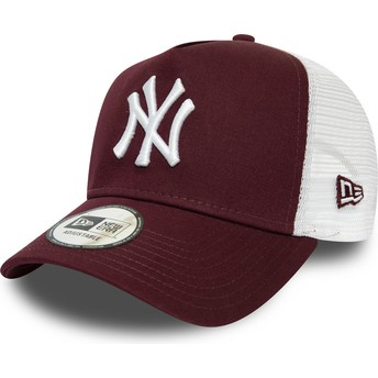 Casquette trucker grenat et blanche Essential A Frame New York Yankees MLB New Era