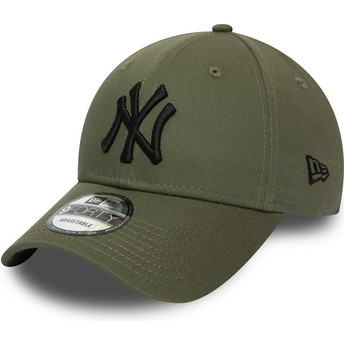 Casquette courbée verte ajustable avec logo noir 9FORTY Essential New York Yankees MLB New Era
