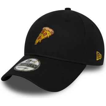 Casquette courbée noire ajustable 9TWENTY Pizza New Era