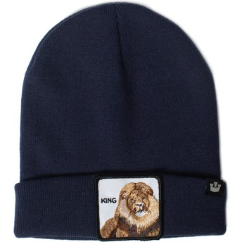 Bonnet bleu marine lion Hear Me Roar Goorin Bros.
