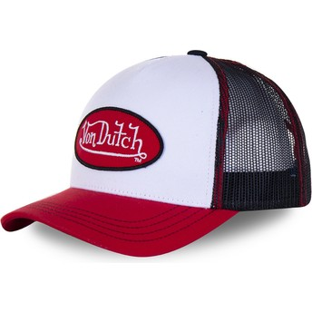 Casquette trucker blanche, noire et rouge BBR Von Dutch