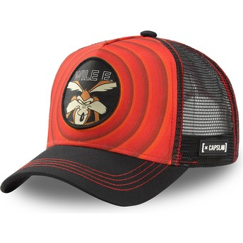 Casquette trucker rouge et noire Coyote Bullseye Color Rings WIL1 Looney Tunes Capslab