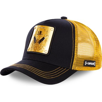 Casquette trucker noire et dorée Rich Uncle Pennybags BIF Monopoly Capslab