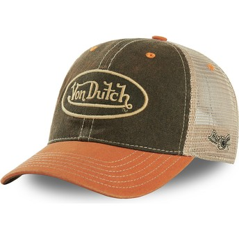 Casquette trucker verte et orange MAC3 Von Dutch