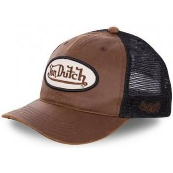 Casquette trucker marron et noire PETE Von Dutch