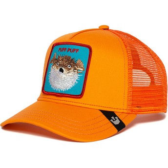 Casquette trucker orange poisson globe Puff Goorin Bros.