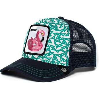 Casquette trucker bleue flamant flotteur Clothing Optional Goorin Bros.