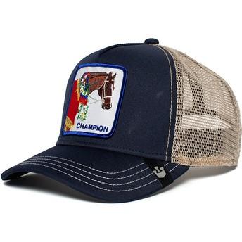 Casquette trucker bleue marine cheval Champion Goorin Bros.