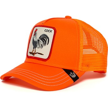 Casquette trucker orange coq Hot Male Goorin Bros.