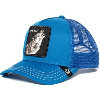 Casquette trucker bleue loup Wolf Goorin Bros.
