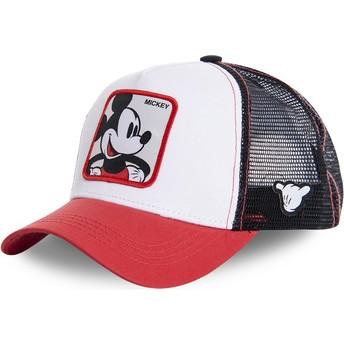 Casquette trucker blanche, noire et rouge pour enfant Mickey Mouse KID_MIC4 Disney Capslab