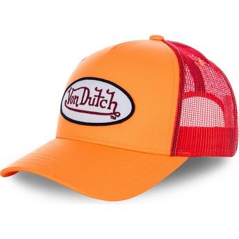 Casquette trucker orange pour enfant KID_FRESH3 Von Dutch