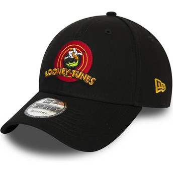 Casquette courbée noire ajustable 9FORTY Bugs Bunny Looney Tunes Chase New Era