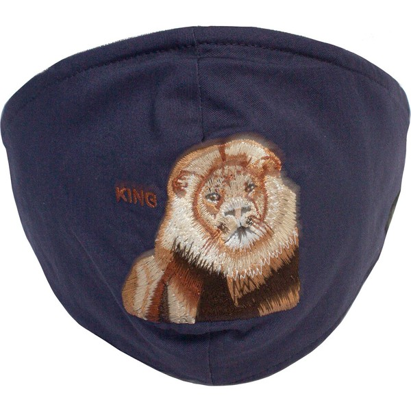 masque-reutilisable-bleu-marine-lion-mane-cat-goorin-bros