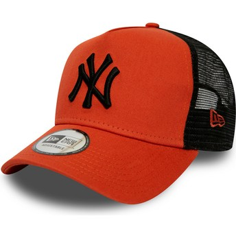 Casquette trucker rouge avec logo noir League Essential A Frame New York Yankees MLB New Era