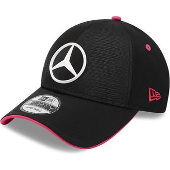 Casquette courbée noire ajustable 9FORTY Draft eSports Mercedes Formula 1 New Era