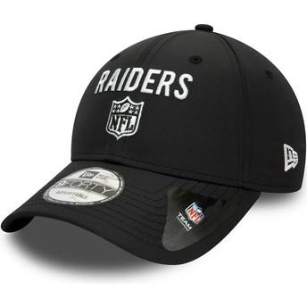 Casquette courbée noire ajustable 9FORTY Team Flag Las Vegas Raiders NFL New Era