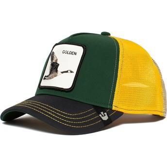 Casquette trucker verte, noire et jaune oie Golden Goose Goorin Bros.