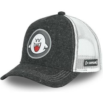 Casquette trucker noire Fantôme Boo POW2 Super Mario Bros. Capslab