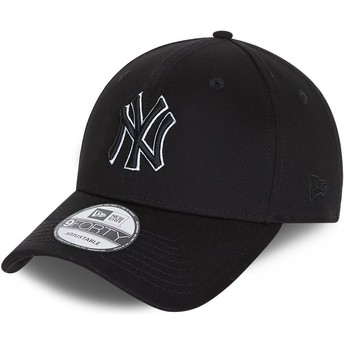 Casquette courbée noire snapback 9FORTY Black Base New York Yankees MLB New Era