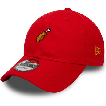 Casquette courbée rouge ajustable 9TWENTY Food Cuisse De Poulet New Era