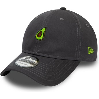 Casquette courbée grise ajustable 9TWENTY Food Avocat New Era