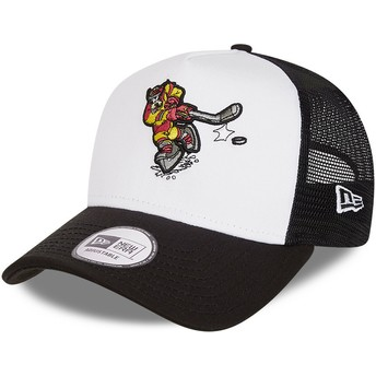 Casquette trucker blanche et noire Character Sports A Frame Dingo Goofy Ice Hockey Disney New Era