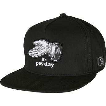 Casquette plate noire snapback WL Pay Me Cayler & Sons