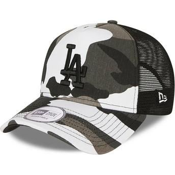 Casquette trucker camouflage noire avec logo noir A Frame Los Angeles Dodgers MLB New Era