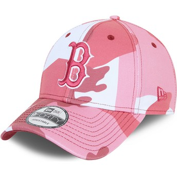 Casquette courbée camouflage rose ajustable avec logo rose 9FORTY Boston Red Sox MLB New Era