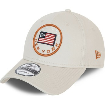 Casquette courbée grise ajustable 9FORTY USA Flag New Era