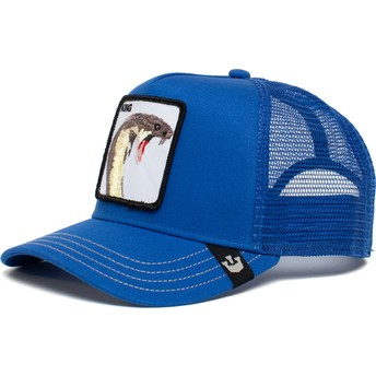 Casquette trucker bleue cobra King Biter The Farm Goorin Bros.