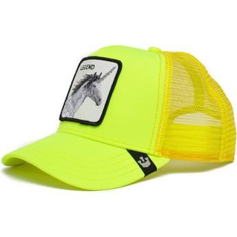 Casquette trucker jaune licorne Legend Show Pony The Farm Goorin Bros.