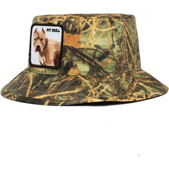 Chapeau seau camouflage chien Pitbull Misunderstood The Farm Goorin Bros.