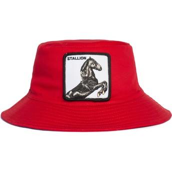 Chapeau seau rouge cheval Stallion I'm A Little Hoarse The Farm Goorin Bros.