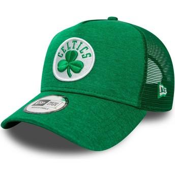 Casquette trucker verte Shadow Tech A Frame Boston Celtics NBA New Era