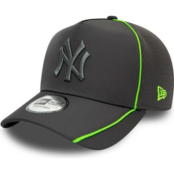 Casquette courbée grise snapback avec logo grise Feather Pipe A Frame New York Yankees MLB New Era