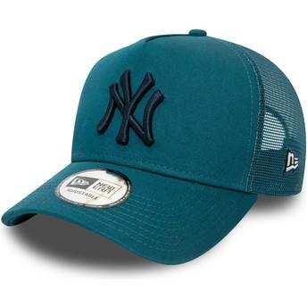 Casquette trucker bleue avec logo noir League Essential A Frame New York Yankees MLB New Era