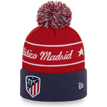 Bonnet rouge et bleu avec pompom Bobble Knit Atlético de Madrid LFP New Era