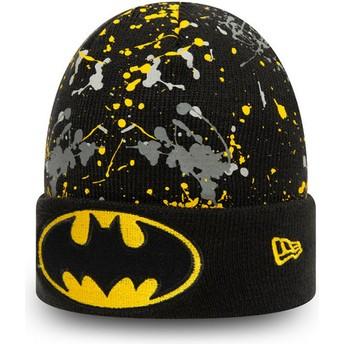 Bonnet noir pour enfant Cuff Knit Paint Splat Batman DC Comics New Era