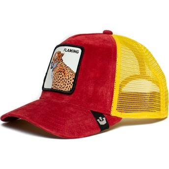 Casquette trucker rouge et jaune léopard Flaming Hot Cheetah The Farm Goorin Bros.