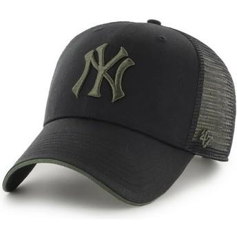 Casquette trucker noire avec logo vert MVP Dagwood New York Yankees MLB 47 Brand