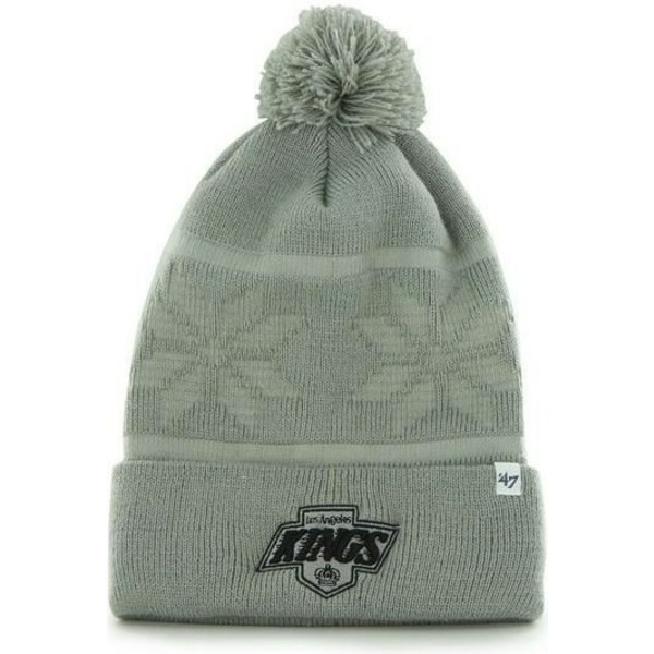bonnet-gris-avec-pompon-los-angeles-kings-nhl-47-brand