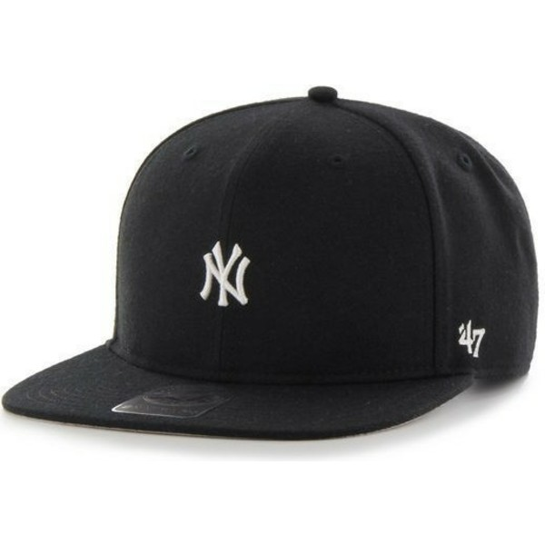 casquette-plate-noire-snapback-new-york-yankees-mlb-centerfield-47-brand