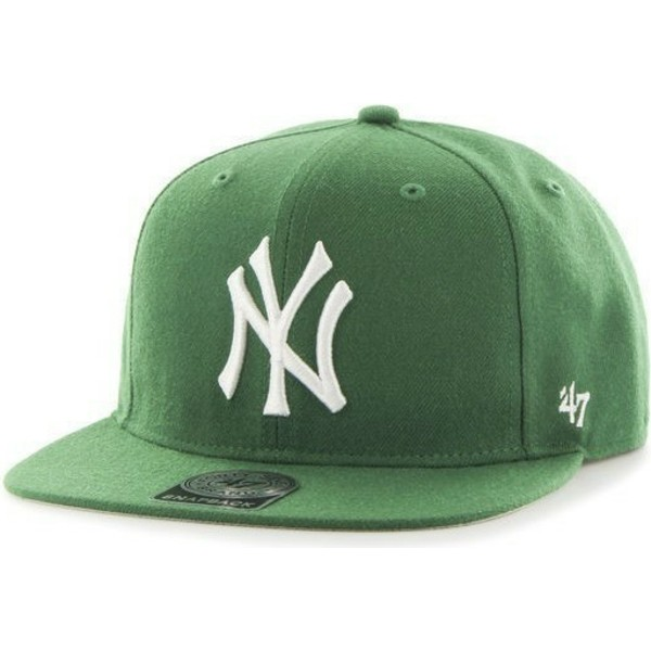 casquette-plate-verte-snapback-new-york-yankees-mlb-sure-shot-47-brand
