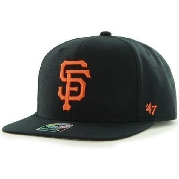 casquette-plate-noire-snapback-san-francisco-giants-mlb-sure-shot-47-brand