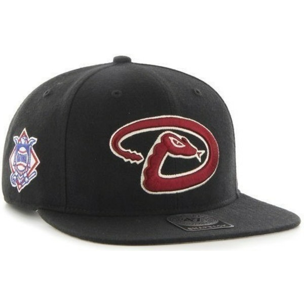 casquette-plate-noire-snapback-arizona-diamondbacks-mlb-sure-shot-47-brand