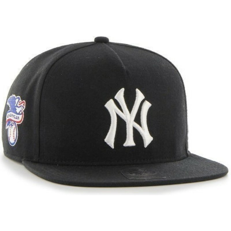 casquette-plate-noire-snapback-new-york-yankees-mlb-sure-shot-47-brand