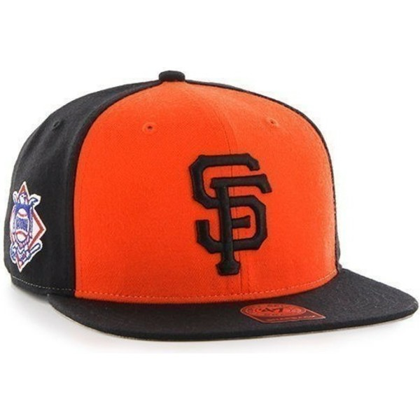 casquette-plate-noire-et-orange-snapback-san-francisco-giants-mlb-sure-shot-47-brand