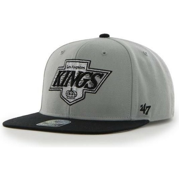 casquette-plate-grise-los-angeles-kings-nhl-sure-shot-47-brand